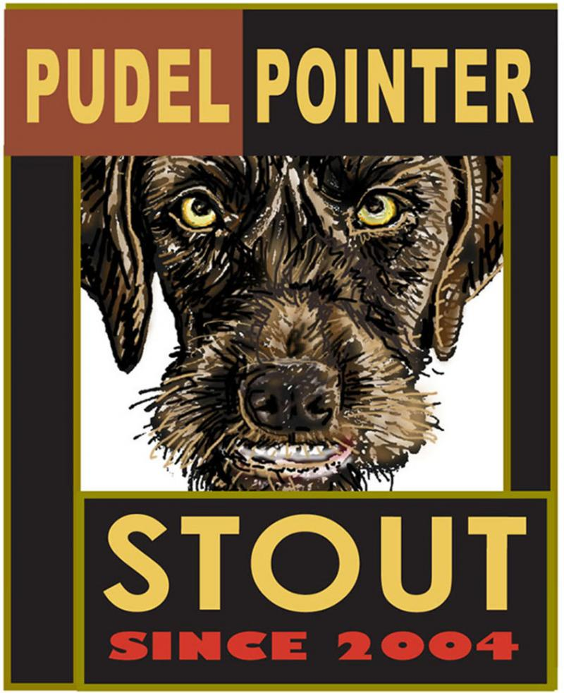 "Beer Label ""Pudel Pointer Stout"""